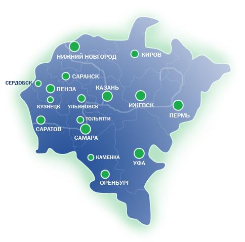 Приволжский Федеральный Округ Контурная Карта